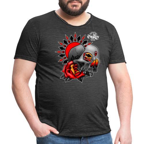 skullmandala - Mannen Vintage T-shirt