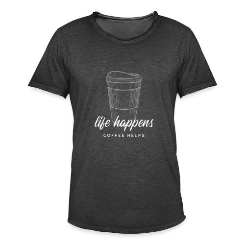 Life happens / Coffee helps - Männer Vintage T-Shirt