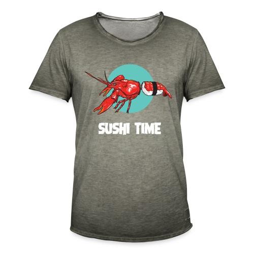 SUSHI TIME-gambero-b - Maglietta vintage da uomo