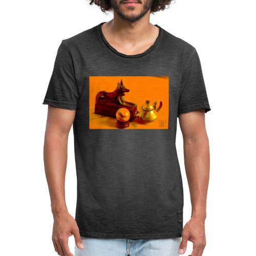 Anubi nel deserto - Maglietta vintage da uomo