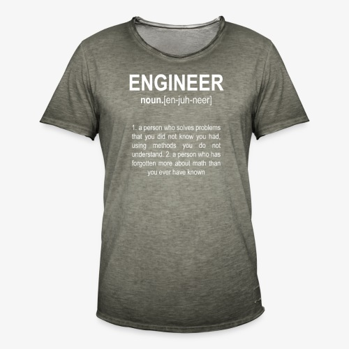 Engineer Def. 2 - T-shirt vintage Homme