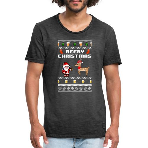 beery christmas - T-shirt vintage Homme