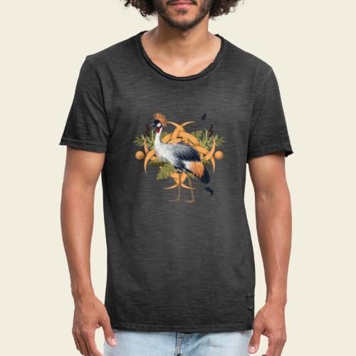 Kronenkranich - Männer Vintage T-Shirt