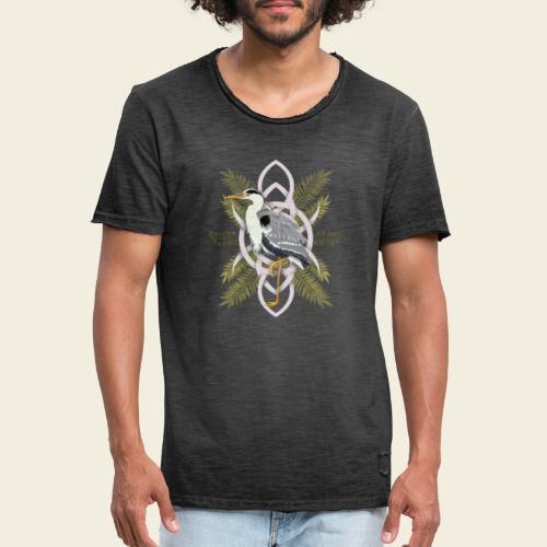 Reiher - Männer Vintage T-Shirt