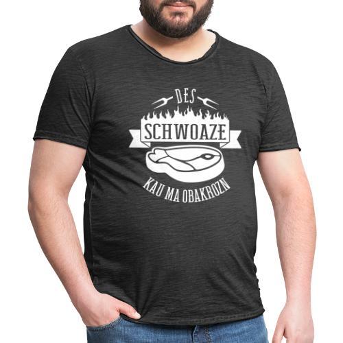 Vorschau: des schwoaze kau ma obakrozn - Männer Vintage T-Shirt