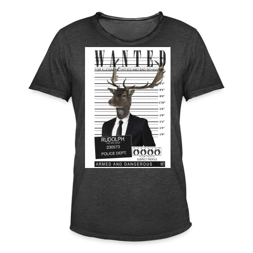 Rudolph wanted - Miesten vintage t-paita