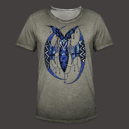 Chauve Souris Dentelle Bleue - T-shirt vintage Homme