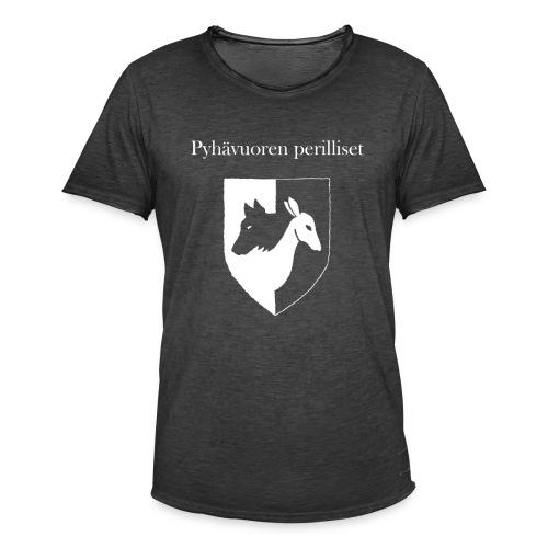 Pyhävuoren perilliset häälogo+teksti - Miesten vintage t-paita