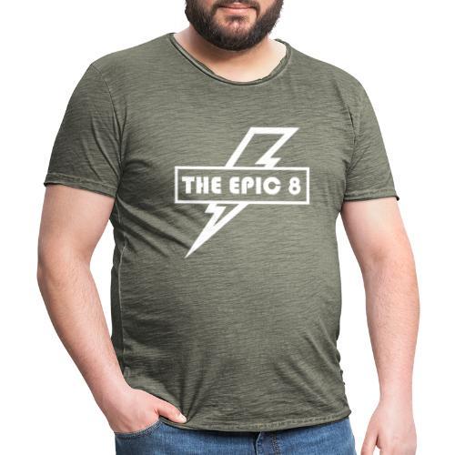 The Epic 8 - valkoinen logo - Miesten vintage t-paita