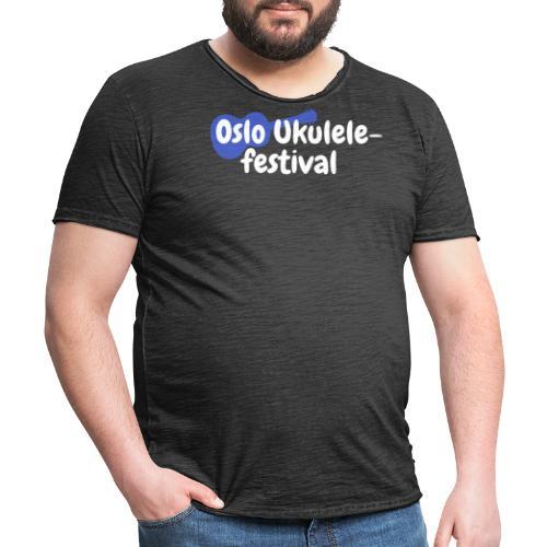 Festival logo hvit - Vintage-T-skjorte for menn
