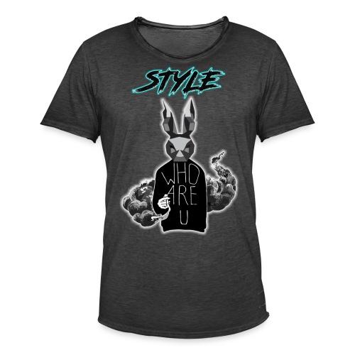 Estilo de Conejo - Camiseta vintage hombre