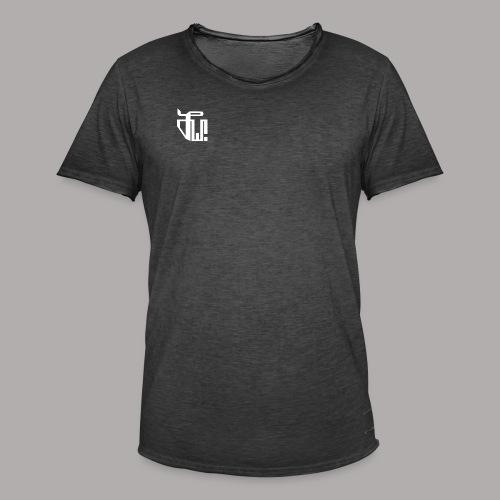 Zirkel, weiss (vorne) Zirkel, r w g (hinten) - Männer Vintage T-Shirt