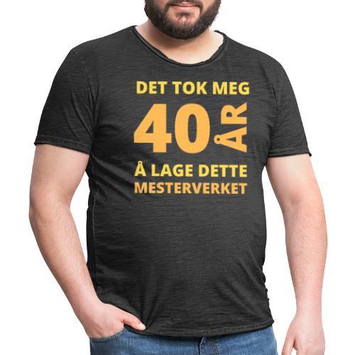 bursdagsgave til 40 åring - Vintage-T-skjorte for menn