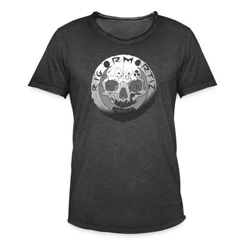 Rigormortiz Black and White Design - Men's Vintage T-Shirt