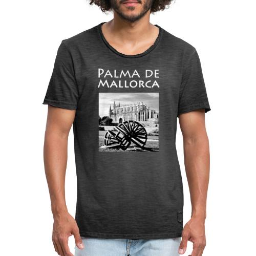 Palma de Mallorca mit Cathedrale Heiligen Maria - Männer Vintage T-Shirt
