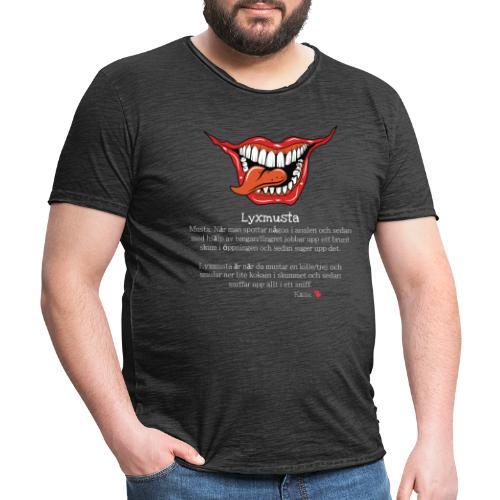 Lyxmusta - Vintage-T-shirt herr