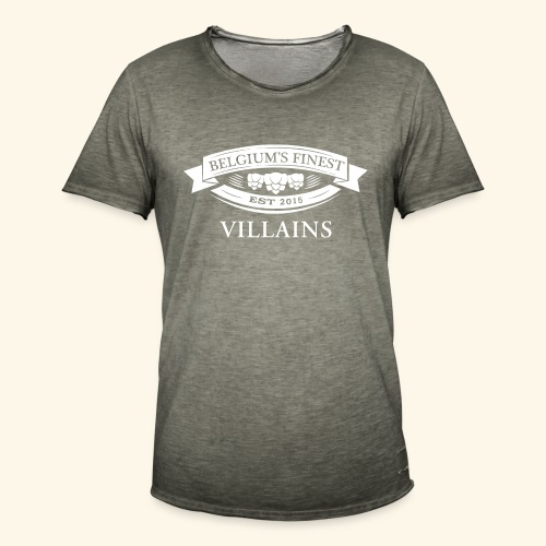 BelgiumFinestEst2015Villains volledigwit - Men's Vintage T-Shirt