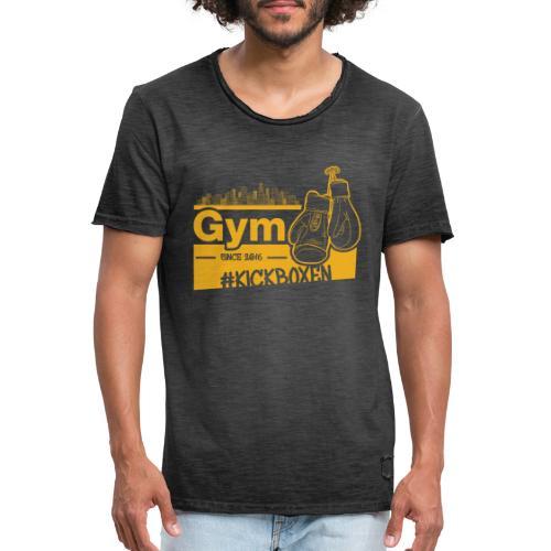 Gym Druckfarbe Orange - Männer Vintage T-Shirt