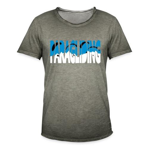 Paragliding Letters - Men's Vintage T-Shirt
