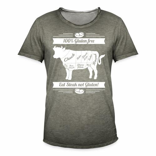 Lustiges Design für Fleisch-Fans - Männer Vintage T-Shirt