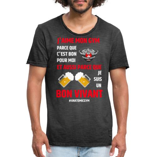 ANATOMIC GYM LIFESTYLE - T-shirt vintage Homme