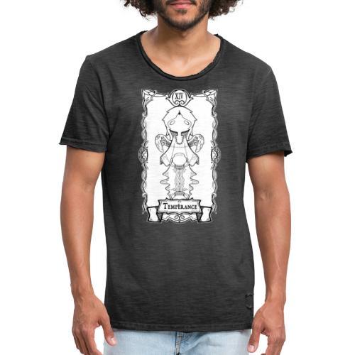 Tarot Card: Temperance - Herre vintage T-shirt