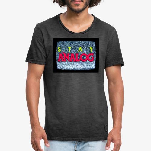 Stay ANALOG FPV - Maglietta vintage da uomo