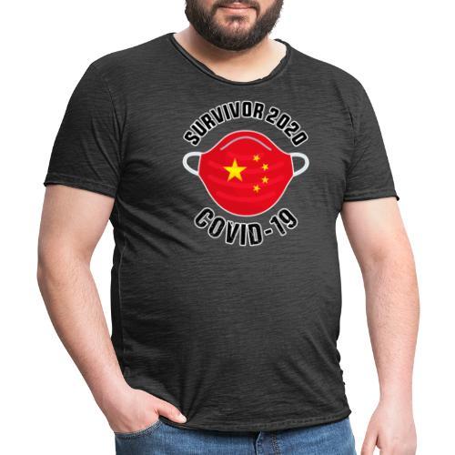Survivor Covid 19 China - Camiseta vintage hombre