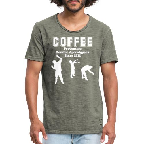 Coffee Apocalypse - Männer Vintage T-Shirt