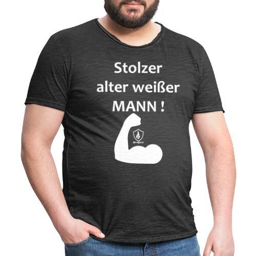 Stolzer alter weißer Mann - Männer Vintage T-Shirt