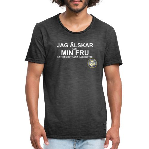 Jag Älskar Min Fru & Bågskytte - Vintage-T-shirt herr