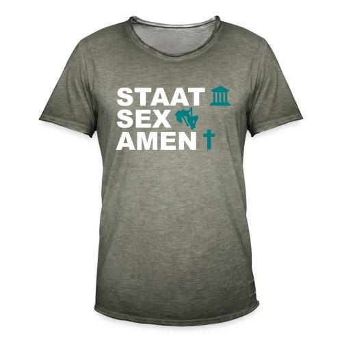 Staatsexamen / Staat Sex Amen - Männer Vintage T-Shirt