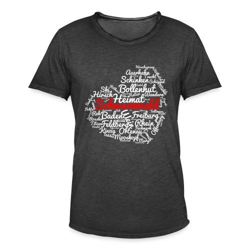 Schwarzwald Herz - Männer Vintage T-Shirt