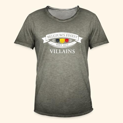 BelgiumFinestEst2015Villains white - Men's Vintage T-Shirt