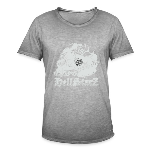 HELLSTARZ Skull Logo - T-shirt vintage Homme