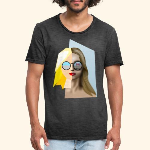 kite girl - Männer Vintage T-Shirt