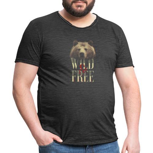 free tee wild free - Männer Vintage T-Shirt