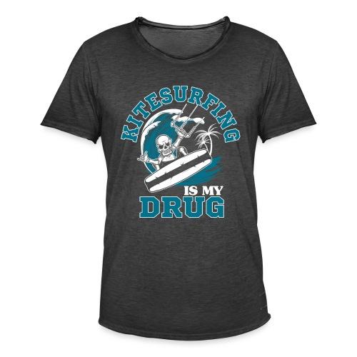 Kitesurfing is my drug - Männer Vintage T-Shirt