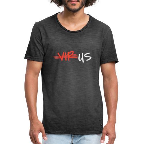 T-Shirt gegen Corona und für ein Miteinander - Männer Vintage T-Shirt
