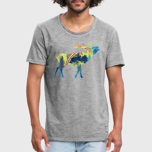 Cerf dans la forêt - T-shirt vintage Homme