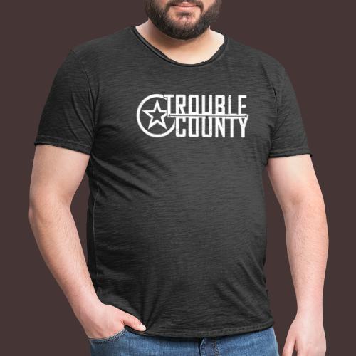 Trouble County Logo - Men's Vintage T-Shirt