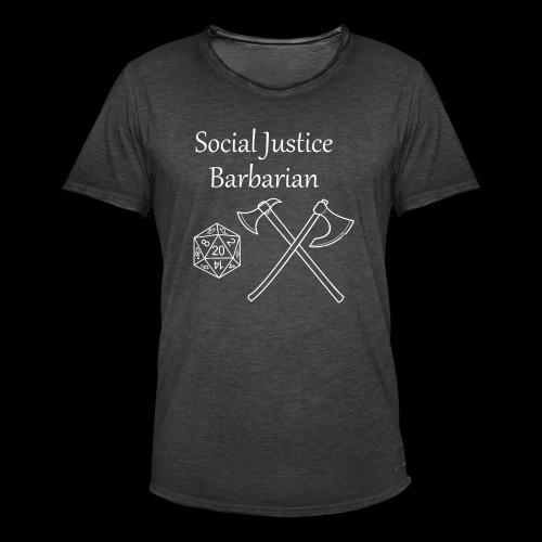 Social Justice Barbarian - Men's Vintage T-Shirt