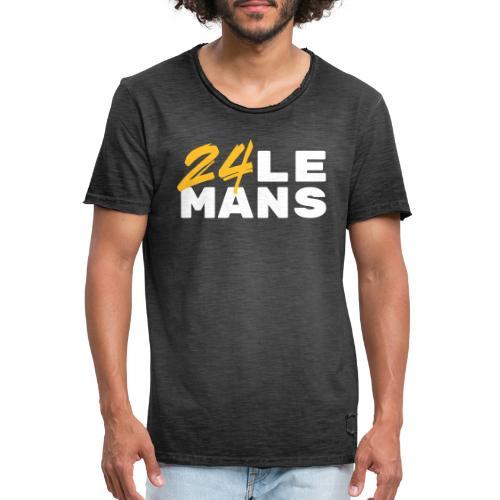 24h Le Mans Lounge (jaune) - Männer Vintage T-Shirt