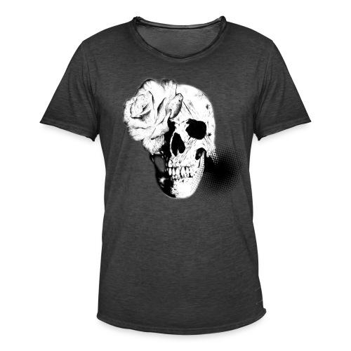 Totenkopf - Männer Vintage T-Shirt
