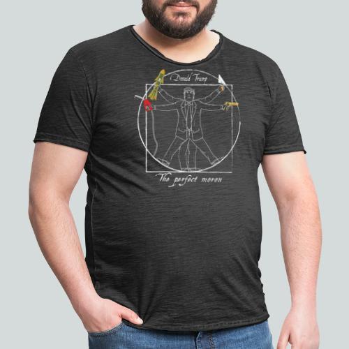 Trump : Le parfait crétin I - Anti-Trump design - T-shirt vintage Homme