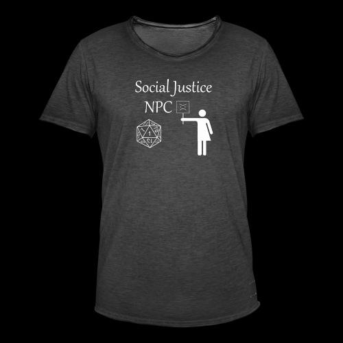 Social Justice NPC - Men's Vintage T-Shirt