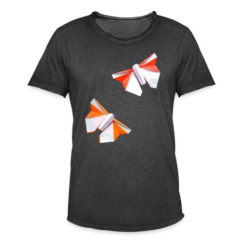 Butterflies Origami - Butterflies - Mariposas - Men's Vintage T-Shirt