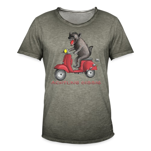 Hyäne - Achtung bissig - Männer Vintage T-Shirt