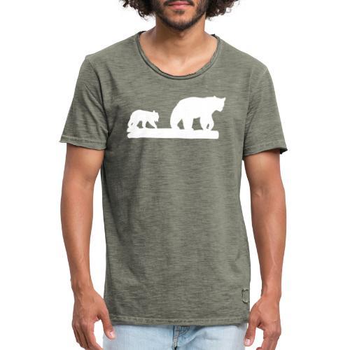 Bär Bären Grizzly Raubtier Wildnis Nordamerika - Männer Vintage T-Shirt
