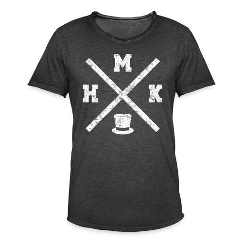 hmkvalkoinen - Miesten vintage t-paita